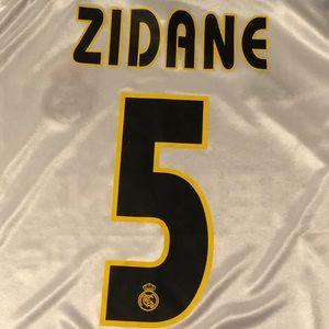 72a3ea62b adidas Shirts - Retro Real Madrid  5 Zinedine Zidane Jersey
